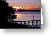 Topsail Island Greeting Cards - Alone with God Greeting Card by Karen Wiles