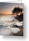 ; Maui Greeting Cards - Alone with the Sea Greeting Card by Mike  Dawson