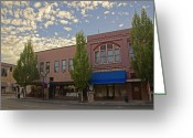 Alto Cumulus Greeting Cards - Along 6th Street in Grants Pass Greeting Card by Mick Anderson