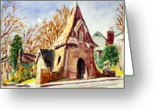 Clayton Painting Greeting Cards - Along Big Bend Blvd. Greeting Card by Horacio Prada