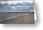 Beaches Greeting Cards - Along The Shore Greeting Card by Dan Holm