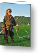 Norse Greeting Cards - Along The Viking Trail Greeting Card by Tony Beck