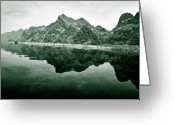 Vietnam Greeting Cards - Along the Yen River Greeting Card by David Bowman