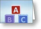 B Block Greeting Cards - Alphabet Blocks Greeting Card by Cristina Pedrazzini