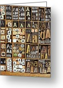 Alphabet Greeting Cards - Alphabet Greeting Card by Daryl Benson