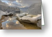 Lake Bohinj Greeting Cards - Alpine Clarity Greeting Card by Ian Middleton