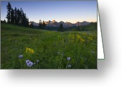 Paintbrush Photo Greeting Cards - Alpine Dawn Greeting Card by Mike  Dawson