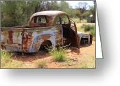 Chev Pickup Greeting Cards - Alrtunga truck Greeting Card by James Mcinnes