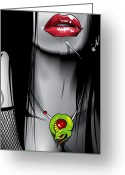 Piercing Greeting Cards - ALT Girl Greeting Card by Brian Gibbs
