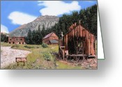 Town Painting Greeting Cards - Alta in Colorado Greeting Card by Guido Borelli