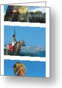 Shamanic Photo Greeting Cards - Altai Tuva  Greeting Card by Elena Filatova