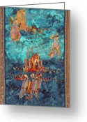 Textile Art Tapestries - Textiles Greeting Cards - Altar at Sea Greeting Card by Roberta Baker