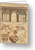 Religious Art Painting Greeting Cards - Altar Screen Beverly Minster East Riding Yorkshire England 1883 Greeting Card by Gibbons Sankley