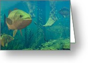 Bass Digital Art Greeting Cards - Alternate Perspective Greeting Card by Dieter Carlton