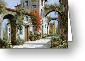 Street Scene Greeting Cards - Altri Archi Greeting Card by Guido Borelli
