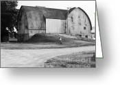 Gothic Arch Greeting Cards - Aluminum Gothic Arch Barn  Greeting Card by Jan Faul