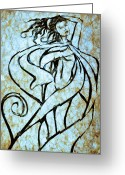 Change Mixed Media Greeting Cards - Always A Woman 2 Greeting Card by Angelina Vick