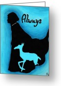 Wizard Drawings Greeting Cards - Always Doe in Snape Greeting Card by Jera Sky