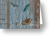 Fleur Greeting Cards - Always Kiss Me Goodnight Greeting Card by Debbie DeWitt
