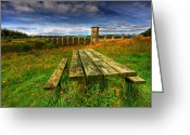 Dam Greeting Cards - Alwen Reservoir Greeting Card by Adrian Evans