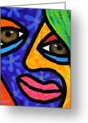 Abstract Bright Color Greeting Cards - Aly Alee Greeting Card by Steven Scott