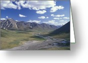 Environmental Damage Greeting Cards - Alyeska Pipeline Cutting Greeting Card by Rich Reid