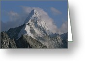 Ama Greeting Cards - Ama Dablam Mountain Is 6856 Meters Greeting Card by Bobby Model