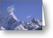 Rudi Prott Greeting Cards - Ama Dablam Nepal Greeting Card by Rudi Prott