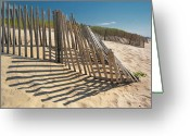 Fence Row Greeting Cards - Amagansett Beach Fence Greeting Card by Joseph O. Holmes / portfolio.streetnine.com