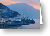 Bill Cannon Greeting Cards - Amalfi by the Sea Greeting Card by Bill Cannon