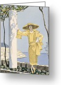 20s Greeting Cards - Amalfi Greeting Card by Georges Barbier
