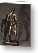Bronze Sculpture Greeting Cards - Amazing Grace back view Greeting Card by Dan Earle