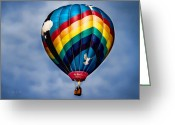 Hot Air Balloon Photo Greeting Cards - Amazing Grace Greeting Card by Bob Orsillo