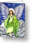 Heavens Drawings Greeting Cards - Amazing Grace Greeting Card by Leeah Borner