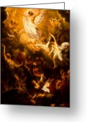 Good Friday Digital Art Greeting Cards - Amazing Jesus Resurrection Greeting Card by Pamela Johnson