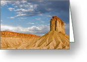 Mountain Texture Greeting Cards - Amazing Mesa Verde Country Greeting Card by Christine Till