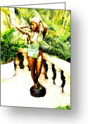 Lovely Sculpture Greeting Cards - Amazon Beauty Greeting Card by Unique Consignment