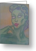 Zombie Pastels Greeting Cards - Amazon Zombie Greeting Card by Jason Longbrake
