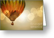 Baby Room Greeting Cards - Amber Night Glow Greeting Card by Andrea Hazel Ihlefeld