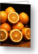 Citrus Fruits Greeting Cards - Ambersweet Orange Greeting Card by Photo Researchers