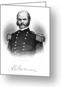 Autograph Greeting Cards - Ambrose E. Burnside Greeting Card by Granger