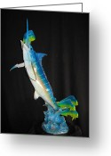 Sea Life Sculpture Greeting Cards - Ambush Greeting Card by John Townsend