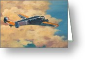 Lockheed Electra Greeting Cards - Amelia Earheart Greeting Card by Murray McLeod