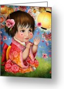 Jessica Grundy Greeting Cards - Amelie Greeting Card by Jessica Grundy