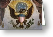 Great Painting Greeting Cards - America - Great Seal Greeting Card by Granger
