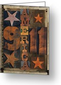 Letterpress Greeting Cards - America Greeting Card by Russell Pierce