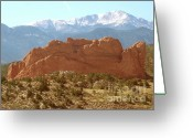Garden Of The Gods Greeting Cards - America the Beautiful Greeting Card by Cristopher