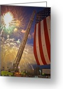 Ridgewood Greeting Cards - America the Beautiful Greeting Card by Jim DeLillo