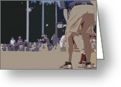 Baseball Game Digital Art Greeting Cards - American as Apple Pie Greeting Card by Peter  McIntosh