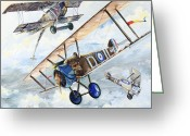 War Plane Greeting Cards - American Camel Greeting Card by Charles Taylor